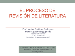 Revisión de literatura: estrategias para localizar información