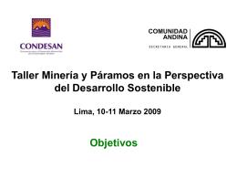 Implicaciones de la Mineria en los Páramos de Colombia, Ecuador y