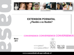 Extension Postnatal Flexibilidad 03.2011