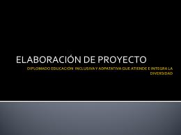 Proyecto - Educación Inclusiva