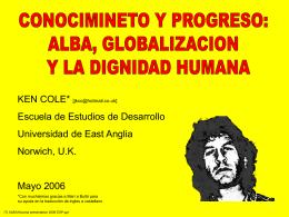 ALBA, globalizacion y la dignidad humana [formato PPT]