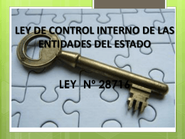 Ley de Control Interno - Presentación en Power Point