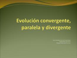 ppt 4 Evolución Convergente y Divergente