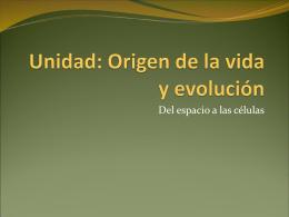 ppt 1Origen de la vida y evolucion