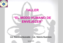 EL MODO HUMANO DE ENVEJECER - Centro Viktor Frankl para la