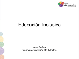 Presentación de Isabel Zúñiga