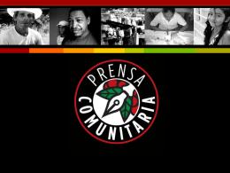 """Prensa Comunitaria: """"Voz y letra de las"""