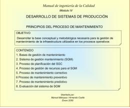 Principios del Proceso de Mantenimiento - TS