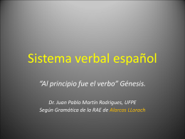 Sistema verbal español