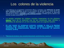 colores de la violencia