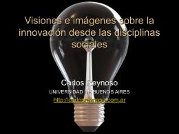 Visiones e imágenes sobre la innovación desde