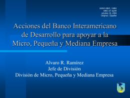 Acciones del Banco Interamericano de Desarrollo para apoyar a la