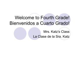 ¡Bienvenidos a Primer Grado!