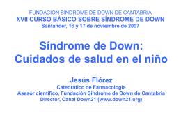 Los cuidados de salud en el niño con síndrome de Down.