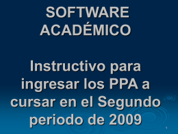 SOFTWARE ACADÉMICO