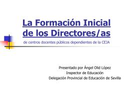 Orden 29-03-05 de formación inicial directores/as