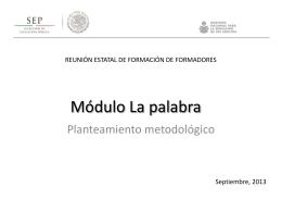 Planteamiento metodológico 281013