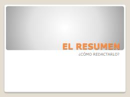 """EL RESUMEN - IES """"La Azucarera"""""""