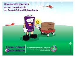 Lineamientos generales para el cumplimiento del Carnet Cultural