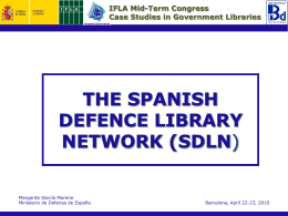 IFLA Mid-Term Congress Case Studies in Government Libraries
