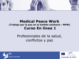 PAZ - Medical Peace Work