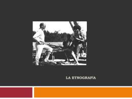 La etnografía