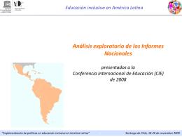 La educación inclusiva en América Latina y el Caribe: Un