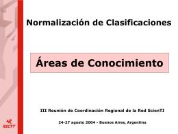 Normalización de Clasificaciones