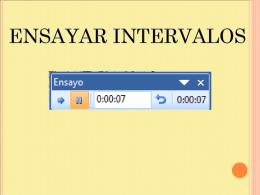 Ensayar intervalos