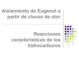 Aislamiento de Eugenol y Reacciones 2015