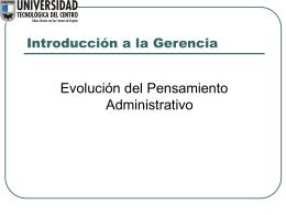 Introducción a la Gerencia - Universidad Tecnológica del Centro