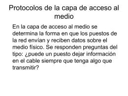 Protocolos de acceso al cable e Internet