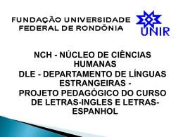 Letras Espanhol - Departamento de Línguas Estrangeiras