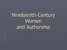 Nineteenth-Century Women and Authorship