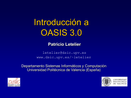 OASIS 3.0 - Universidad Politécnica de Valencia