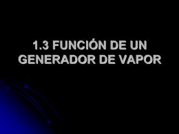 1.3 función de un generador de vapor