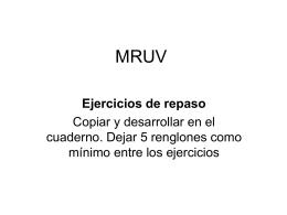 Ejercitario MRUV