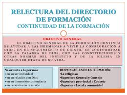 RELECTURA DEL DIRECTORIO DE FORMACIÓNx
