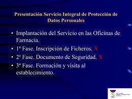 Presentación Servicio Integral de Protección de Datos Personales