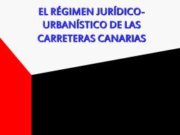 el régimen jurídico y económico de las carreteras canarias