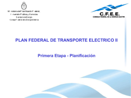 plan federal de transporte electrico ii