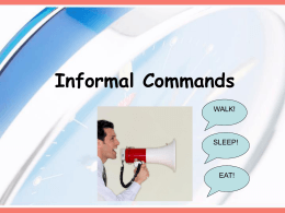 Informal tú commands