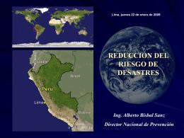 La Reducción del Riesgo de Desastres [ppt