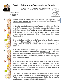 111 LA UNIDAD DEL ESPIRITU