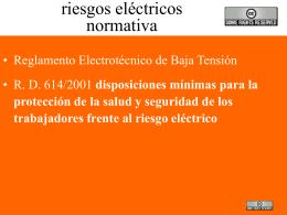 formación en riesgos eléctricos