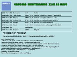 CRUCERO MEDITERRANEO 22