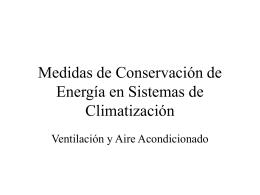 Medidas de Conservación de Energía en Procesos