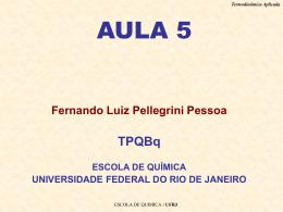 Aula 5 - Escola de Química / UFRJ