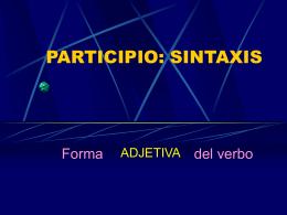 Sintaxis del participio