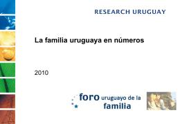 La familia uruguaya en números (hecho por empresa Research)